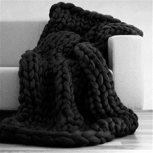 QQEER Sofa Decken Nordic Stil Fotografie Props Decken, handgewebt Blankets Modell Room Home Sofa Decken,F-60 * 60