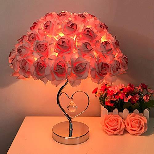 Tisch Llamp Rose Blume LED Nachtlicht Nachtnacht Lampe Home Hochzeit Party Dekor Atmosphäre Nacht Licht Schlaf Beleuchtung pink