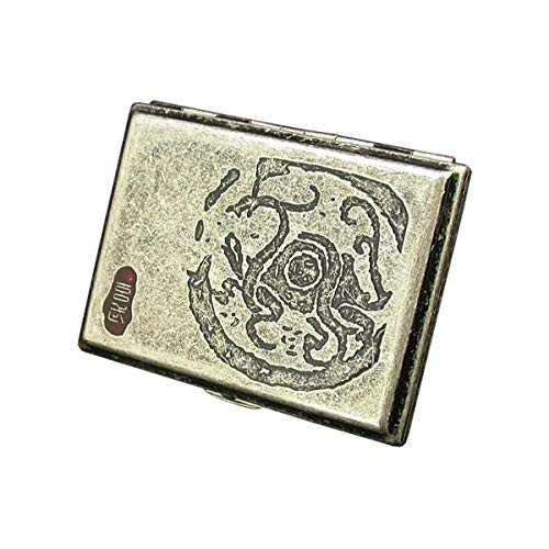 Read About QINRUIKUANGSHAN Cigarette Case, Copper Cigarette Case, 16 Cigarette Holders, Ancient God ...
