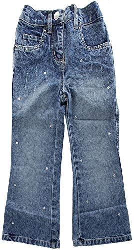 Kidoki süße Kinder Jeans Hose Strass Glitzer Blau 98