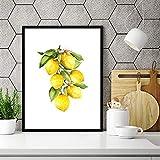 Zitrone Leinwand Ölgemälde Drucke Küche Wandkunst Dekor