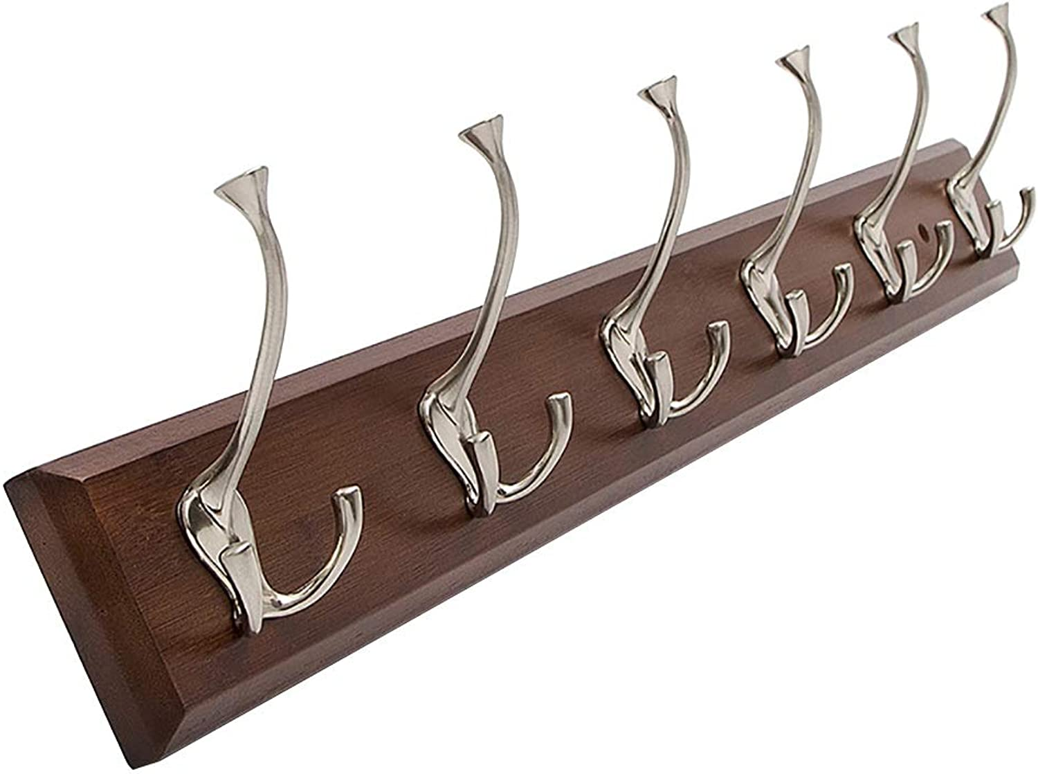 Home Porch Wall Hanging Coat Rack Bedroom Hook Hanger 6 Hook Length 74cm Three colors. (color   C)