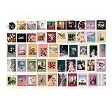 HeziCat Glänzendes Retro-Wand-Collage-Set, ästhetische Bilder, 200 Stück, buntes Indie Wanddekoration für Teenager-Mädchen, College Schlafsaal Raumdekoration Fotosammlung