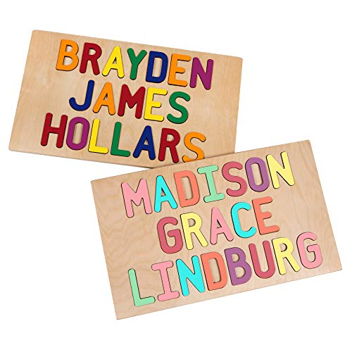 Kids Personalized Three Name Wooden...