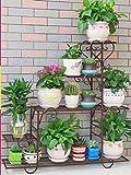 QFF Q Blumenständer Eisenregale Innenbalkon Wohnzimmerregal Großer trapezförmiger Blumenständer F (Color : C)