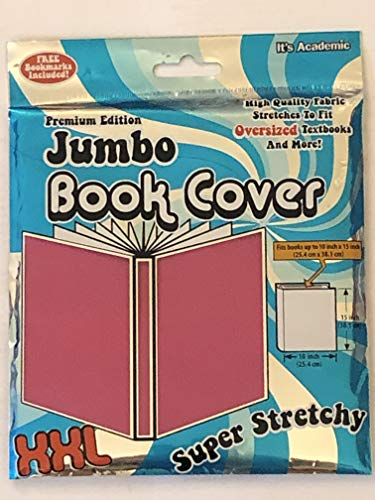 It's Academic Premium Edition Jumbo Book Cover Set of 3,1 Pink Solid, 1 Black Solid and 1 Violet Pink Solid