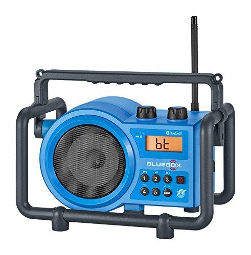 Sangean BB-100 BlueBox AM/FM Ultra-Rugged Digital Receiver with Bluetooth, Blue, 12.4