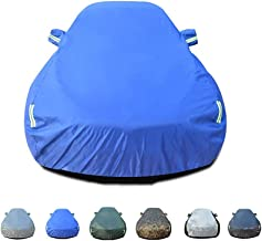 JPVGIA Outdoor Indoor Car Cover, Waterproof Windproof Scratch Resistant All Weather UV Protection with Reflective Strips for MPV Fits Orlando, Large (Color : Blue)
