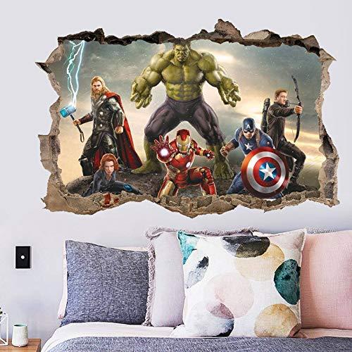 BLOUR Nuevo AliExpress 3D estereoscópico Capitán América Hulk po Qiang y Pegatinas de Papel...