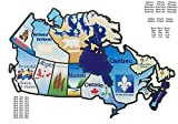 RV Canada Stickers Motorhome Map Sticker Trailer Canadian Province Visited
