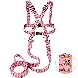 WAGOMA® Pferdeleine Kinder (Rosa) - Fördert Bewegung und Fantasie - Pferdegeschirr für Kinder zum Spielen - mit extra Langer Leine - Pferdeleine zum Spielen für Kinder, Pferdegeschirr Kinder