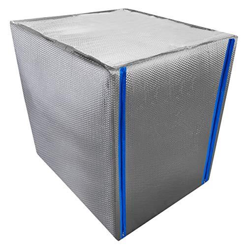 REKUBIK IBC Thermohaube mit Reißverschluss Frostschutz Tankgröße 1000l IBC (120x100x116cm)