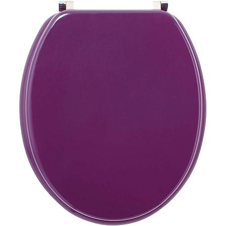 Wirquin 20717955 Colors Line Abattant, Prune, 47 x 37.7 x 7 cm