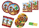 Kit N 47 Coordinato Cowboy Accessori Party A Tema...