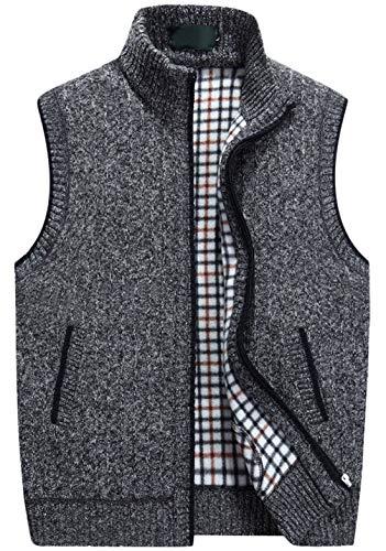 Men's Sweater Vest Zipper