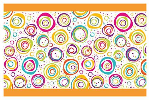 I-love-Wandtattoo Kinderzimmer Bordüre Borte Farbprächtige Kreise Junge Mädchen Wanddeko