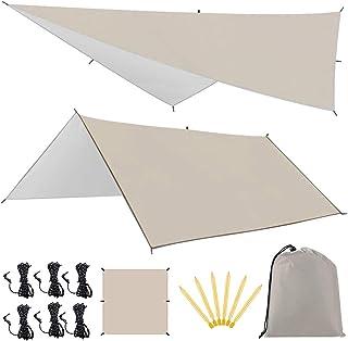 天幕シェードLinkax防水タープ UVカット ヘキサゴンタープ キャンプ用品 収納袋付き 多サイズ...