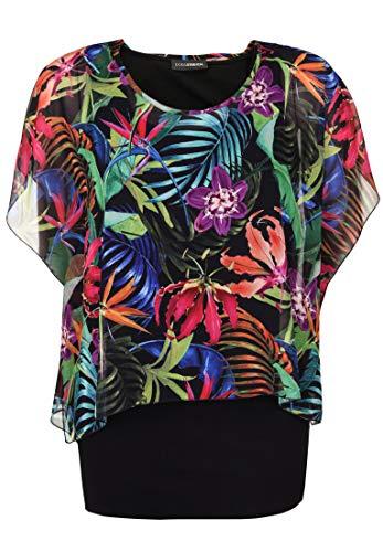 Doris Streich Damen Bluse mit floralem Überwurf Chiffon