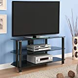 """Best 42 Inch Tvs - Living Essentials Cairo 42"""" TV Stand, Black Glass Review"""