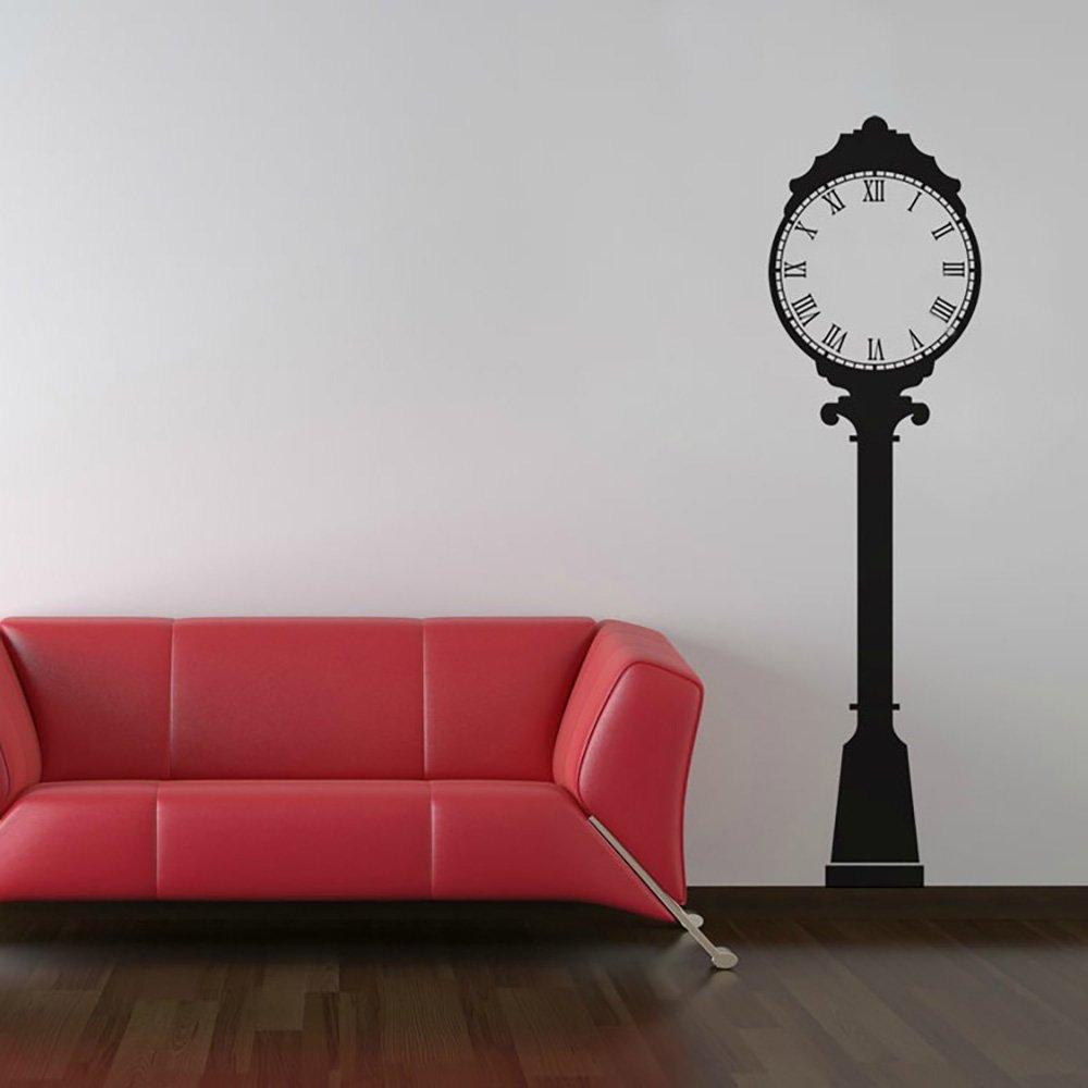 Reloj de pared de vinilo para 22 cm negro vida tamaño ciudad reloj de pared de trabajo por Katazoom para pared adhesivos: Amazon.es: Hogar