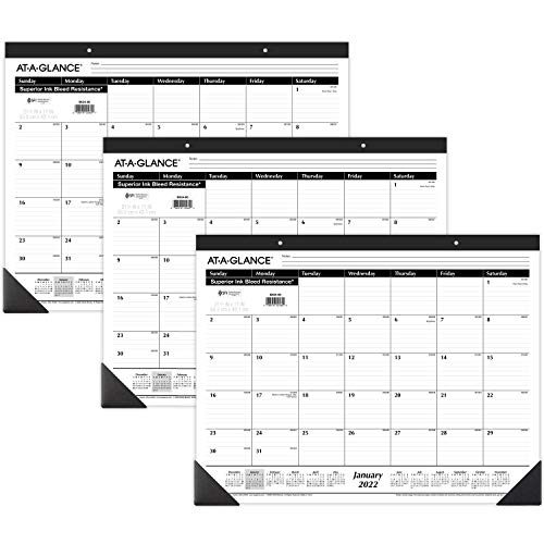 2022 Desk Calendars by AT-A-GLANCE, Monthly Desk Pads, 21-3/4' x 17',...