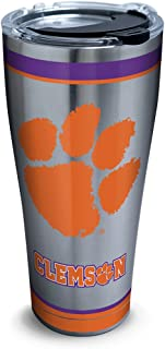 Tervis NCAA Clemson Tigers Tradition Stainless Steel Tumbler, 30 oz, Silver