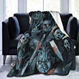Ho-rror Myster-ious Character Soft Plush Throw Blanket Warm Lightweight Thermal Fleece Blankets for Couch Bed Sofa All Season 50' x40