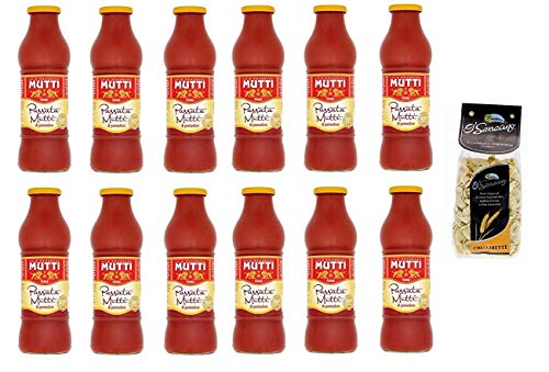 12x Mutti Passata di Pomodoro Tomatenpaste Tomaten sauce 100% Italienisch 700g + O' sarracino Pasta Orecchiette Handwerker