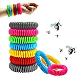 SAWYER 12 Pack Mosquito Repellent Bracelets, Reusable Plant-Based Oil and Waterproof Wrist Bands for Adults, Pets, Travel Protection Outdoor