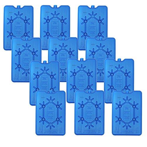 NEMT 12x platte koelelement 200 ml koelelement 11 x 16,5 x 1,5 cm koeltas koelbox