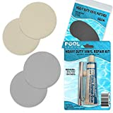 Pool Above Repair Kit for Dura Beam Deluxe Single Airbed   Vinyl Glue   Gray Beige Patches