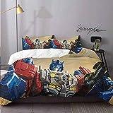 WomHouse (1 Duvet Cover + 2 Pillow Sham) Optimus Prime Transformers Bedding Set for Kids,Boys and Teens Bedding 3 Piece Duvet Cover Set Full