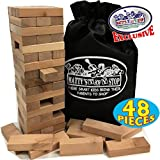 Wooden Tower Deluxe Stacking Game with Exclusive Matty's Toy Stop Storage Bag
