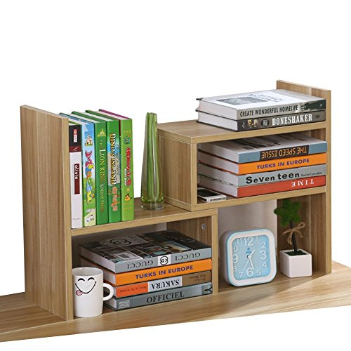 Umora 卓上整理 オフィス 本立て 木製 多機能 おしゃれ 自由に組み合わせ (クルミ色)