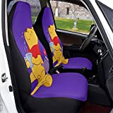 Winnie Pooh Car Seat Covers Soft Comfortable and Elastic Cars Seats Protective Case, Suitable for Most Family Cars 2 PCS