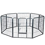 Wire Pen Dog Fence Playpen - Pet Dogs & Cats Outdoor Exercise Pens -...