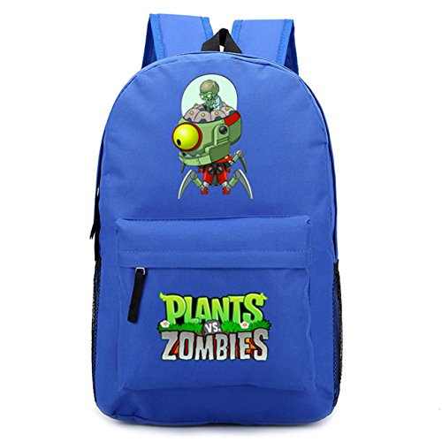 AUGYUESS - Zaino per la scuola, ideale come zaino per laptop, per piante, contro zombie, colore: Blu