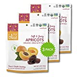 Unsulfured Turkish Apricots - Organic Apricots Dried Fruit Snacks - Healthy Snacks for On the Go & Post Workout Snacks - Non-GMO, Gluten-Free, Dried Apricot Fruit Snacks (3 Pack - 5 oz. each)