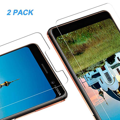 Vkaiy Nokia 7 Plus Pellicola Protettiva in Vetro Temperato - [Durezza 9H] [Alta Trasparente] [Nessuna Bolla] [Anti-Impronte] [ Antigraffi], Facile da Installare, [2 Pezzi]