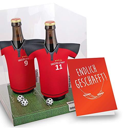 Ruhestand Geschenk | Der Trikotkühler | Das Männergeschenk für Ingolstadt-Fans | Langlebige Geschenkidee Ehe-Mann Freund Vater Geburtstag | Bier-Flaschenkühler by Ligakakao