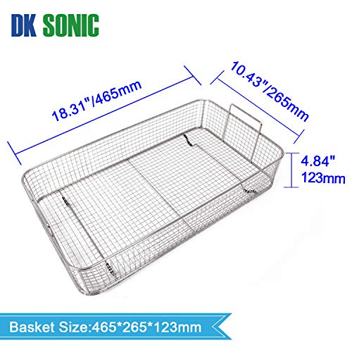 Large Digital Ultrasonic Cleaner - DK SONIC 30L Sonic Cleaner with Heater Basket Digital Timer for,Glasses,Coins,Metal Parts,Carburetor,Fuel Injector,Record,Circuit, Board,Brass etc