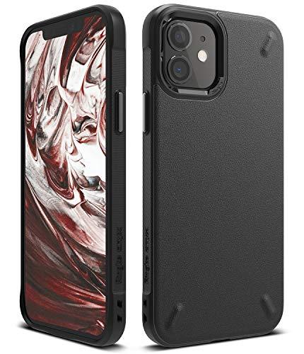 【Ringke】iPhone 12 mini ケース 5.4インチ MagSafe 対応 ストラップホール タフ スマホケース [米軍MIL規格取得] 柔軟 落下防止 カバー Qi 充電 アイフォン12 ケース アイフォン12ミニケース iPhone12 mini 2020 Onyx ケース (Black ブラック)