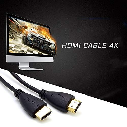 Tikafr - Cable HDMI 1.4 3D para televisor Multifuncional Ultra HD Ultra Delgado, Cable de conexión de Alta definición a Alta Velocidad para Uso doméstico y 1: Amazon.es: Hogar
