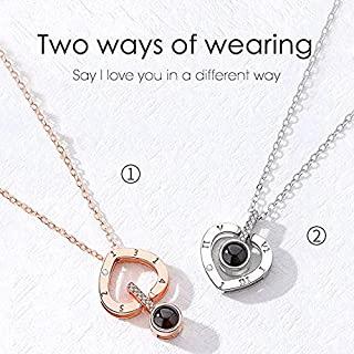 Joyevic i love you in 100 Language Loving Memory Collar Jewelry for Women Gold necklace