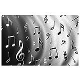 DLJIYZX Felpudo Alfombrillas de música Alfombras de Entrada Alfombra Antideslizante de PVC Alfombra de Cocina Alfombra de baño Alfombra Alfombra 40X60CM