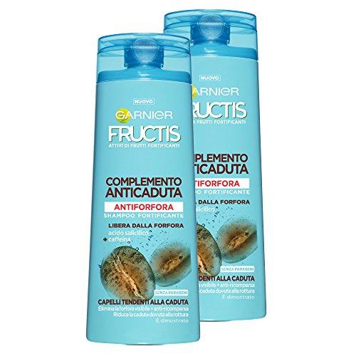 Garnier Fructis Shampoo Anti-Schuppen-Ergänzung Absturzsicherung für Haar bis zum Sturz, 250ml–3Packungen von 2Einheiten