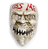 Gmasking 2020 PVC Halloween Election Horror New Year Kiss Me Cosplay Mask Costume Props (Red-Tooth)