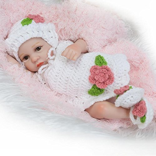 Lilith Hot Sale 10 inches Reborn Baby Doll Girl Full Body Hard Vinyl Look Realistic Infant Baby Bed Time Toy for Education