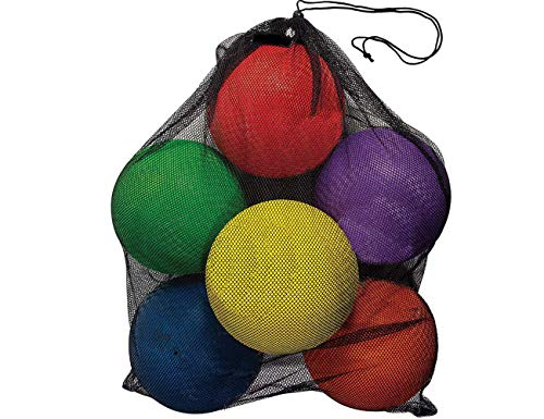 ToysOpoly Inflatable Dodgeball (Pack of 6) - No Sting Balls + Free Pump & Mesh Bag. Balls Come with Different Sizes and Thickness. Make Game More Challenge and Fun (Pack of 6)