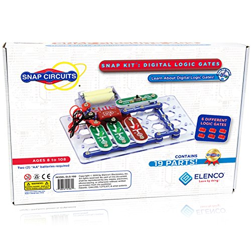 Snap Circuits Digital Logic Gates 100 Exploration Kit | 4Color  Downloadable Project Manual | 13 Snap Modules | 6 Logic Gates | NOT Gate~AND Gate~OR Gate~NAND Gate~NOR Gate~XOR Gate | STEM Curriculum